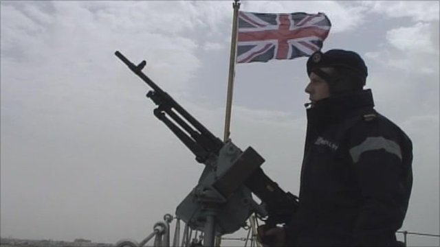 Servicemen on HMS York
