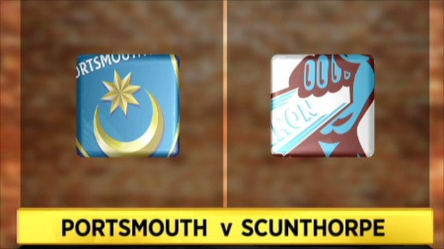 Portsmouth 2-0 Scunthorpe