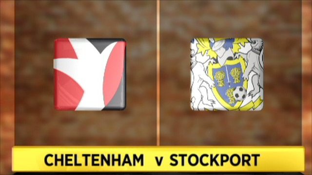 Cheltenham 2-1 Stockport