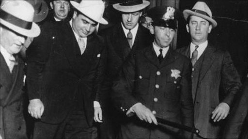 al capone leaving court