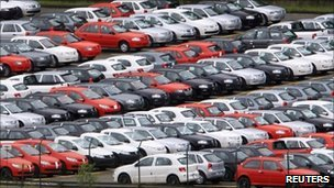 New cars at the Volkswagen plant in Sao Bernardo do Campo, Brazil
