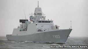 The Dutch warship Tromp (image from Dutch navy website)
