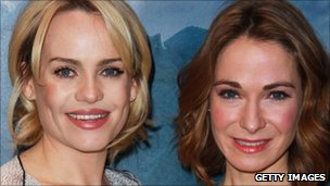 Duffy and Nia Roberts at the premiere in London