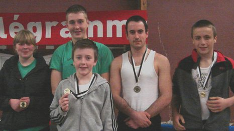 Cumbria's medal winners at the Breton Backhold Championships in Gupavas