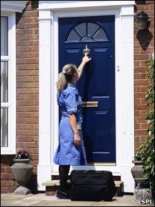 District nurse on a home visit