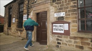 Barnlsey Central polling station