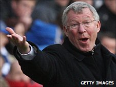 Manchester United manager Sir Alex Ferguson