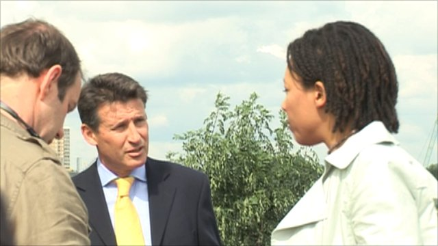 London 2012 chief Seb Coe makes an appearance in the show