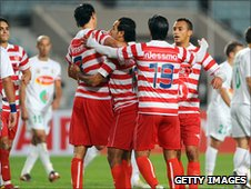 Club Africain players in December 2010