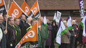 Gateshead protesters