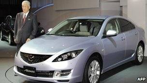 Mazda President Hisakazu Imaki with the Mazda6, called the Atenza in Japan - 29 January 2008