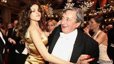 Karima el-Mahroug and Richard Lugner dance at the Opera Ball in Vienna, Austria - 3 March 2011