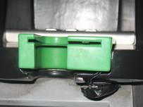 A card skimming device found on a  ticket machine in a London train station