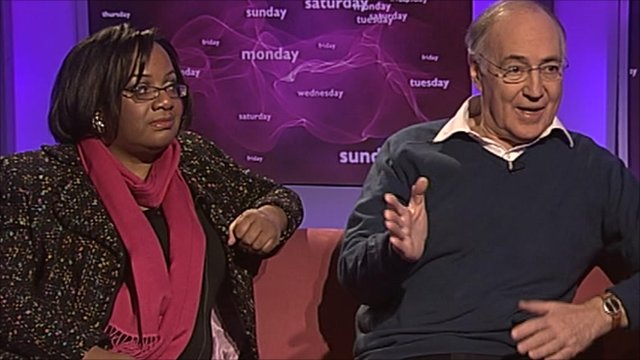 Diane Abbott and Michael Howard