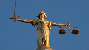 Lady Justice at Old Bailey