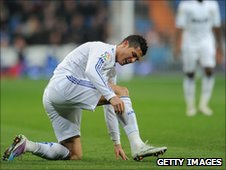 Cristiano Ronaldo injured playing for Real Madrid against Malaga