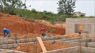 New houses being built in Takoradi