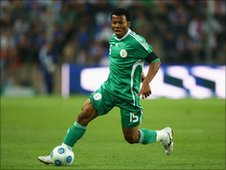 Ikechukwu Uche in action for Nigeria
