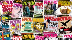Copies of Venue magazine
