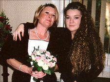 Tracy Nedic with Emily at her second wedding