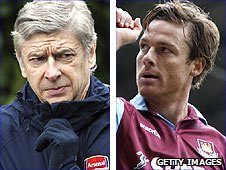 Arsene Wenger and Scott Parker