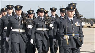 201 Squadron on parade (Picture courtesy RAF Kinloss)