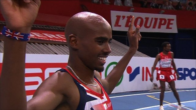 European indoor gold medallist Mo Farah