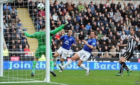 Phil Jagielka scores for Everton