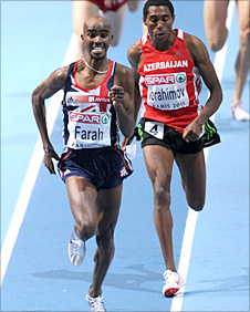 Mo Farah in action