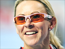 Jenny Meadows after winning her semi-final