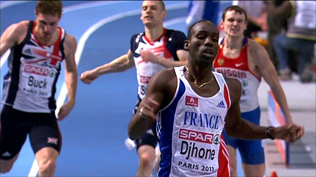 France's Leslie Djhone wins 400m gold