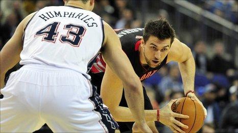 Toronto Raptors' Italian player Andrea Bargnani