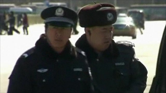 Police officers in Beijing