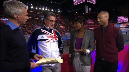 Jonathan Edwards, Charles van Commenee , Denise Lewis and Colin Jackosn 