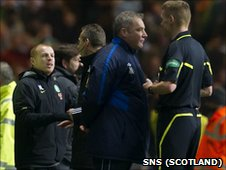 Neil Lennon, Iain Brines, Ally McCoist and Calum Murray