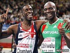 Dwain Chambers and Francis Obikwelu