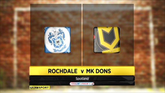 Rochdale 1-4 MK Dons