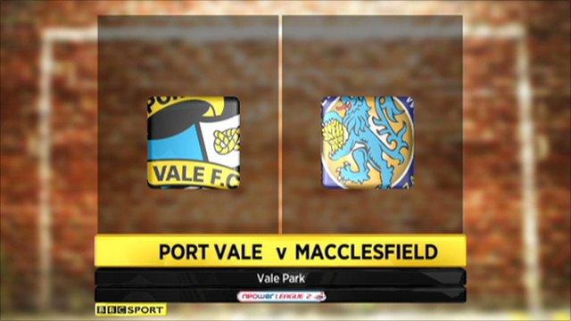 Port Vale 2-1 Macclesfield