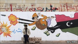 Anti-Gaddafi graffiti