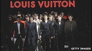 Louis Vuitton creations at the Paris fashion show