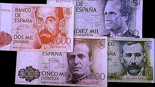 Pesetas (file pic)