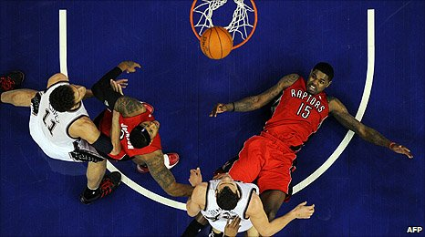 New Jersey Nets and the Toronto Raptors