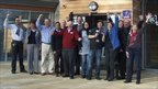 BBC Suffolk and EACH staff celebrate reching the £3m mark