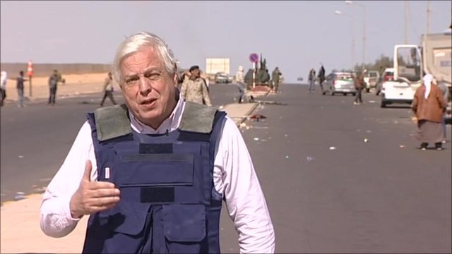The BBC's John Simpson in Libya