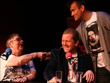 Jo Brand, Jon Culshaw and Hugh Dennis
