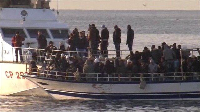 Migrants arrive at Italian island from north Africa