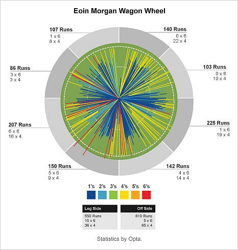 Eoin Morgan wagon wheel