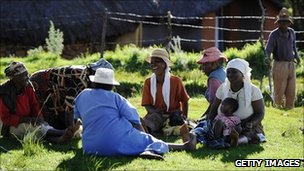 Lesotho women relaxing