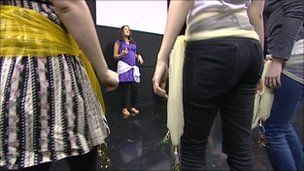 People involved in dance therapy