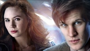 Karen Gillan plays Amy Pond, assistant to Matt Smith's Doctor